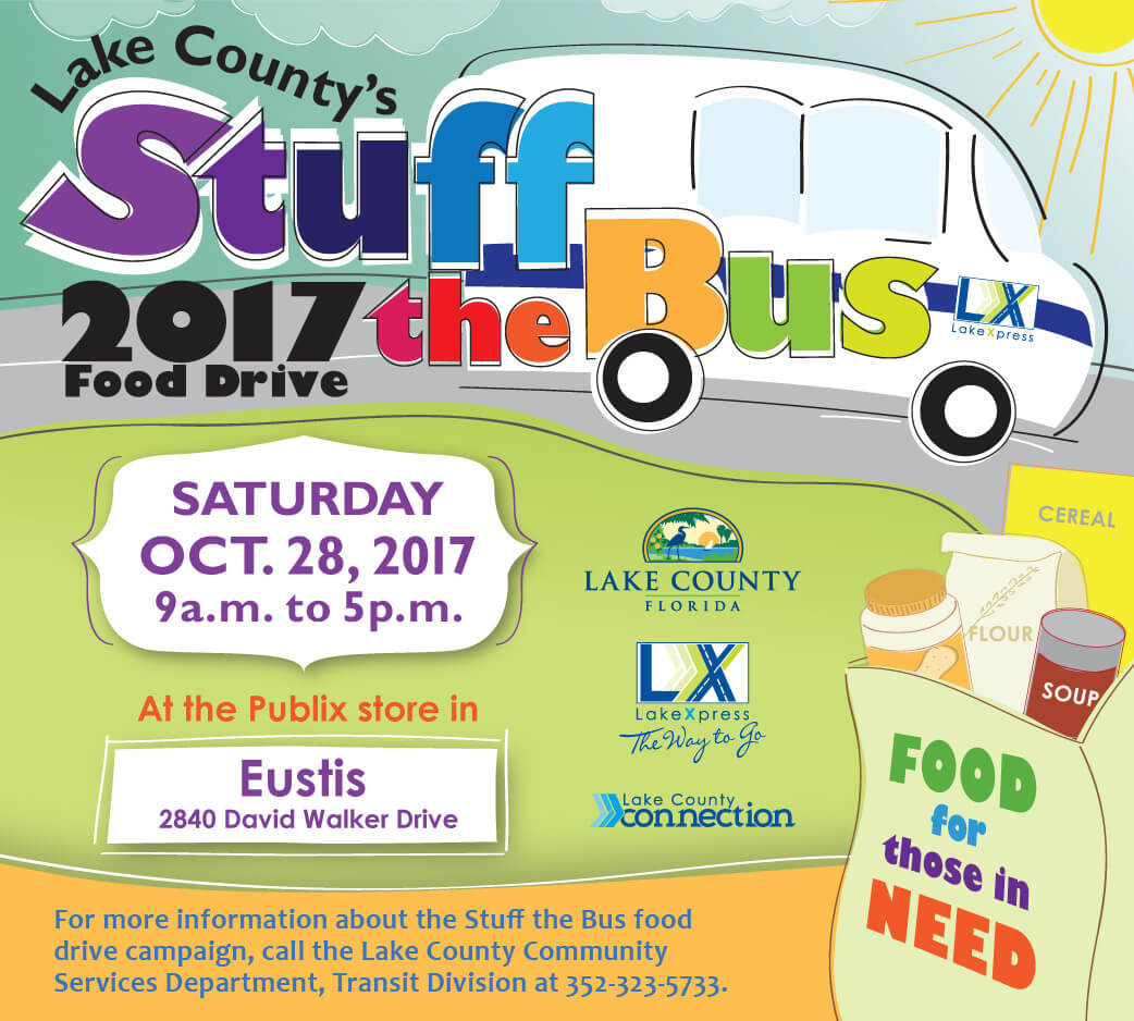 Stuff the Bus!  Saturday, October 28th, 2017 from 9 a.m. to 5 p.m.
